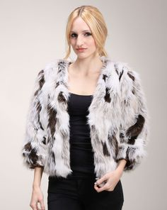 Alexandra says: I adore the vintage feel to this piece. It would look fantastic with a pair of boyfriend jeans or paired over a slinky dress. Maybe even with a sequined skirt for the ultimate feel. Fur Jacket, Fur Coat, Sequined Skirt, Boyfriend Jeans, Skirts, Jackets, Vintage, Dresses, Fashion