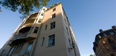 FISKARGATAN 9  Lisbeth Salander buys a 350 square meter (3,800 square foot), 21-room apartment on the top floor of this building...  #StiegLarssonTrilogy