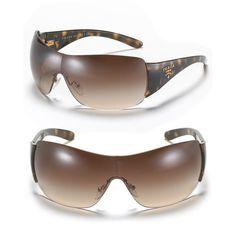 347b874a3c8 Prada Shield Sunglasses with Handbag Logo ( 225) ❤ liked on Polyvore Sunglasses  Women