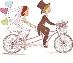 Foto: Natalia Skripko via Shutterstock Wedding Day Cards, Wedding Cards Handmade, Wedding Wishes, Stick Men Drawings, Wedding Cross Stitch Patterns, Bicycle Cards, Bride Pictures, Bridesmaid Cards, Fancy Fold Cards