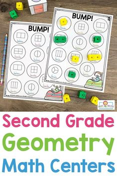2nd Grade Geometry Math Centers - Here your second graders get 387 pages of geometry, attributes of shapes, and partitioning shapes #mathcenters. You'll find 25 hands-on games and center activities, center signs, game boards, math journal pages, and more. Click through to see the sorts, activities, drawing, investigations, Memory game, and more! {Year 2} #Geometry #2ndGrade #MathGame #2ndGradeMath 2nd Grade Classroom, 2nd Grade Math, Classroom Ideas, Sorting Activities, Math Games, Activity Centers, Math Centers, Quick Print, Center Signs