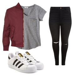 """Outfit #30"" by animal2004 ❤ liked on Polyvore featuring WearAll, New Look and adidas Originals"