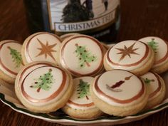 Painted Christmas Button Cookies