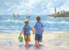 Imagini pentru two boys brothers paintings