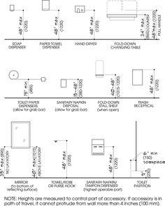 Ada Bathroom Accessories Heights Home Design Zerius - Bathroom accessories heights