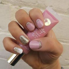Cute & Girly Nail Design for Short Nails