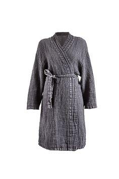 Himla Kimono Fresh Laundry i tvättat lin