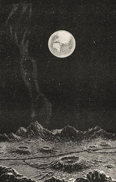 Earth from the moon, in Amedee Guillemin, Le Monde physique, 1882.