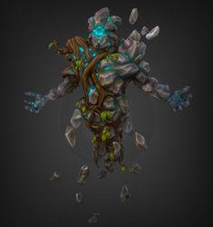 Earth elemental - Jahun., Martin Prestegaard Lehnsdal on ArtStation at https://www.artstation.com/artwork/zQAAQ
