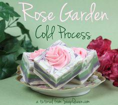 Rose Garden Cold Process Soap Tutorial | Soap Queen