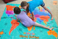 map tangle 3 The Most Fun, Interactive World Map Game for Kids Twister on a map! What a great idea! Add some trivia and you've got an awesome classroom activity :)
