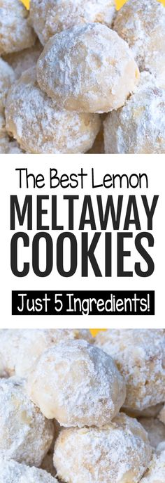 These soft lemon meltaway cookies get their name for a very good reason. They are melt-in-your-mouth delicious! Healthy Cookie Recipes, Easy Baking Recipes, Vegan Dessert Recipes, Healthy Cookies, Cookies Vegan, Healthy Lemon Desserts, Lemon Recipes Vegan, Vegan Muffins, Almond Cookies