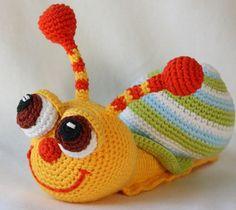 Crochet Happy Amigurumi Snail Free Pattern