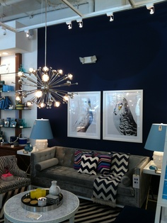 """marine blue"" (benjamin moore). jonathan adler store in portland, oregon"