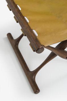 Guldhøj stool in wengé designed by Poul Hundevad at Studio Schalling