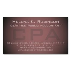 235 best accountant business cards images on pinterest accounting elegant cpa certified public accountant business card reheart Choice Image