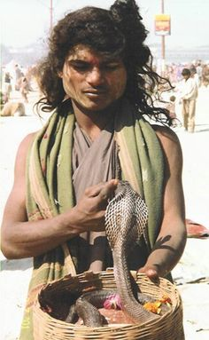 A snake charmer roamed amongst 12 million people at the Maha Kumbh Mela #festival in #india #asia  #awesome This is one of the largest world gatherings. A Hindu Pilgrimage of Faith. People gather and bathe their sins away in a sacred or holy river which in this case was the Ganges River.