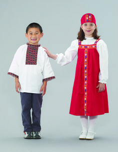 Dress Up Russian Girl and Boy Outfits Children use experiences with various media to perform more sophisticated ways of pretending and make believe with costumes according to the U.S. Consumer Product Safety Commission (CPSC). #costume #dressup #preschool #toddler #school #children#costume #dressup #preschool #toddler #school #children