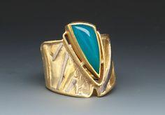 Chrysocolla Ring by Marne Ryan