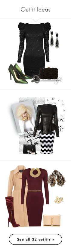 """Outfit Ideas"" by kiki-nelly ❤ liked on Polyvore featuring CO, Kurt Geiger, Elie Saab, Oscar de la Renta, Posh Girl, Plein Sud, MICHAEL Michael Kors, Chanel, blackandwhite and Theory"