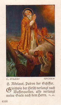 German Holy Card Nikolaus