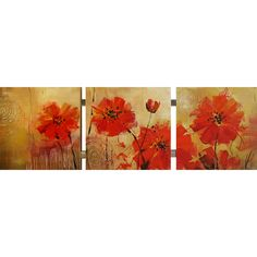Have to have it. Yosemite Home Décor Blooming Red - 60W x 20H in. - $57.99 @hayneedle