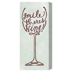 "Lend a touch of whimsy to your living room or master suite with this eye-catching canvas print, showcasing stylized wine glass design with a typographic accent.  Product: Canvas printConstruction Material: Fine art canvas and woodFeatures:  Professionally hand-stretchedGallery-wrappedSustainably harvested, FSC certified wood Ready to hang with all hardware included Made in the USA Includes a certificate of authenticity by the artist  Dimensions: 24"" H x 30"" W x 1.5"" DCleaning ..."