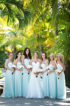 Breathtaking El Dorado Royale Wedding, MX - My Hotel Wedding Pale Blue Bridesmaid Dresses, Blue Bridesmaids, Wedding Dresses, Creative Wedding Inspiration, Bridesmaid Inspiration, Wedding Ideas, Wedding Mint Green, Burgundy Wedding, Before Wedding
