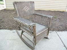 Children's Wicker Chair / Dolls Chair / Victorian by assemblage333, $150.00