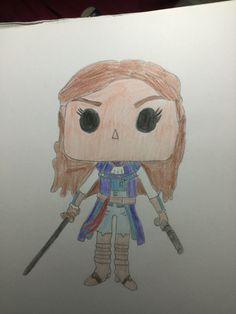 Elise from Assassin's Creed drawn by Emily Rowley