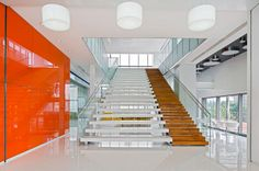 """To firmly establish their company as a global market leader, Perfect World embarked on a much needed expansion to create a 3 building """"mini campus"""" for their employees and guests. Gensler: Workplace Interior Design"""