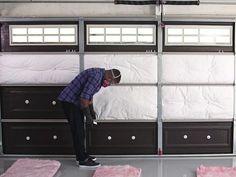 How to Insulate a Garage Door | DIY Garage Ideas - Garage Doors, Organization & Remodeling | DIY >> http://www.diynetwork.com/how-to/rooms-and-spaces/garage/how-to-insulate-a-garage-door?