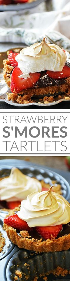 Strawberry S'mores Tartlets just in time for Valentine's Day! These mini dessert tarts are perfectly sized for an individual dessert treat fancy enough to serve for a special occasion such as Valentine's Day, yet easy enough to make any night of the week!
