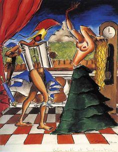 Nikos Engonopoulos Valse Noble et Sentimentale Artist Painting, Artist Art, Painting & Drawing, Conceptual Art, Surreal Art, Greece Painting, Mediterranean Art, Fantasy Art Men, Greek Art