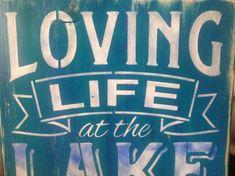 Loving Life at the Lake wood primitive sign swim by djantle Lake Quotes, Sign Quotes, Cedar Lake, Vacation Quotes, Cottage Signs, Lake Decor, Lake Beach, Lake Art, Lake Signs