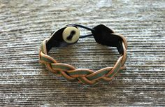 If you're the kind of man who's inclined to wear bracelets, these are handmade in Texas.    They also make lovely purses.