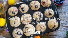 Gesunde Beeren Muffins - vegan ohne weissen Zucker Comfort Food, No Bake Desserts, Cupcakes, Eggs, Baking, Breakfast, Sweet, Brunch, Party