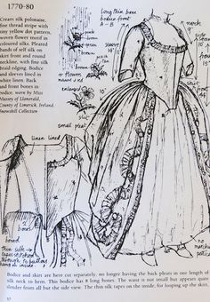 American Duchess: 1770s Parisian Gown a little later than when she would have been there, but this would be great for Claire Fraser cosplay!