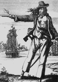 My favorite <3 Anne Bonny (c. 1700 - c. 1782) was an Irish woman who became a famous pirate, operating in the Caribbean. Her birth name was Anna Cormac, and her birthplace was Kinsale, County Cork, Ireland. She was the daughter of a servant woman, Mary Brennan, and Brennan's employer, lawyer William Cormac.