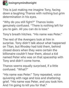 Infinity war avengers 4 iron dad and spider son- i dont want the pain but god i want this scene