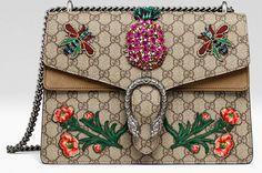 Sac Dionysus City bag, Hong Kong de Gucci avec des fleurs et des abeilles