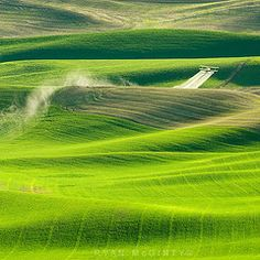 Crop Dusting  Palouse  picture by Ryan McGinty