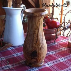 #Vase out of #olive #wood for #flowers like #roses or #tulips etc. Olive Wood Bowl, Wood Bowls, Tulips, Roses, Stuffed Peppers, Flowers, Home Decor, Wooden Bowls, Decoration Home