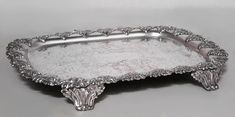 English Victorian accessories tray/serving platter silver-plate