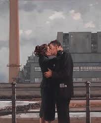 beso en la ciudad
