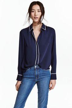 Blusa de mangas compridas | H&M