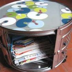 recycled washing machine drum