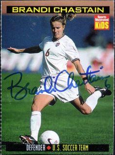 kids brandi soccer autographs brandi chastain sports illustrated ... Brandi Chastain Sports Illustrated