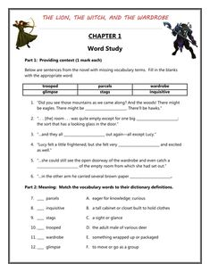 Worksheets The Lion The Witch And The Wardrobe Worksheets comprehension student and reading on pinterest the lion witch wardrobe worksheets