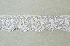 Vintage filet lace edge trim Art Nouveau style by mathildasattic